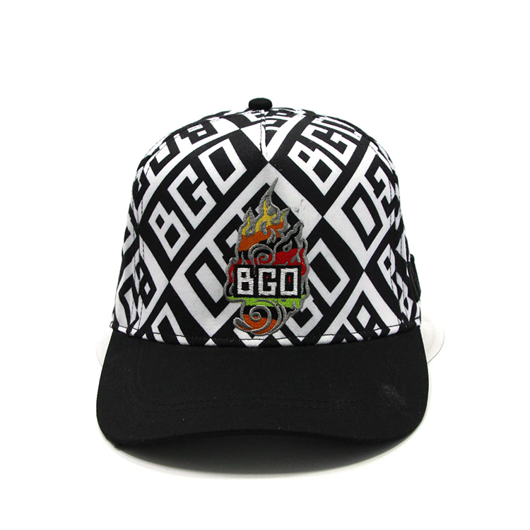 Custom Cool BGO Arabesquitic Snapback Hats,Colorful Embroidered LOGO