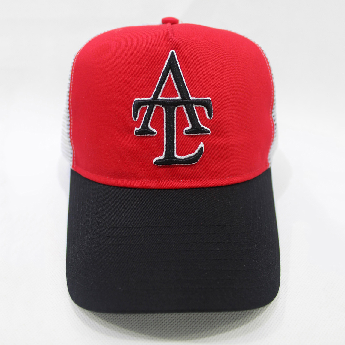 Custom Red-Black ATL Embroidered Trucker Hats,Dongguan Suntrends Hat Factory