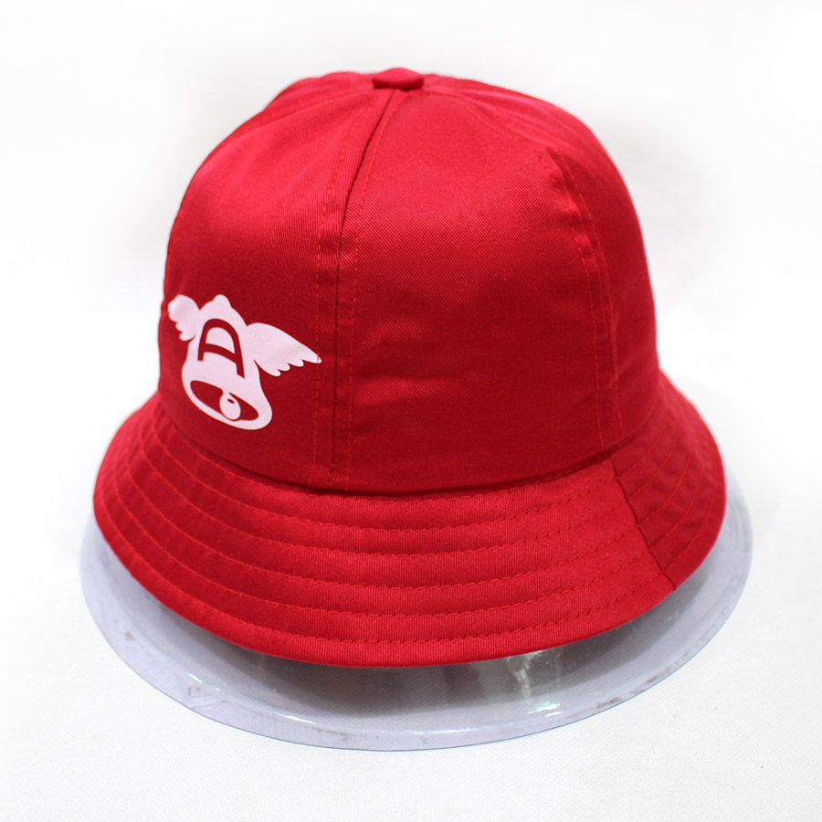 Custom Kids Red Bucket Hats With Print LOGO