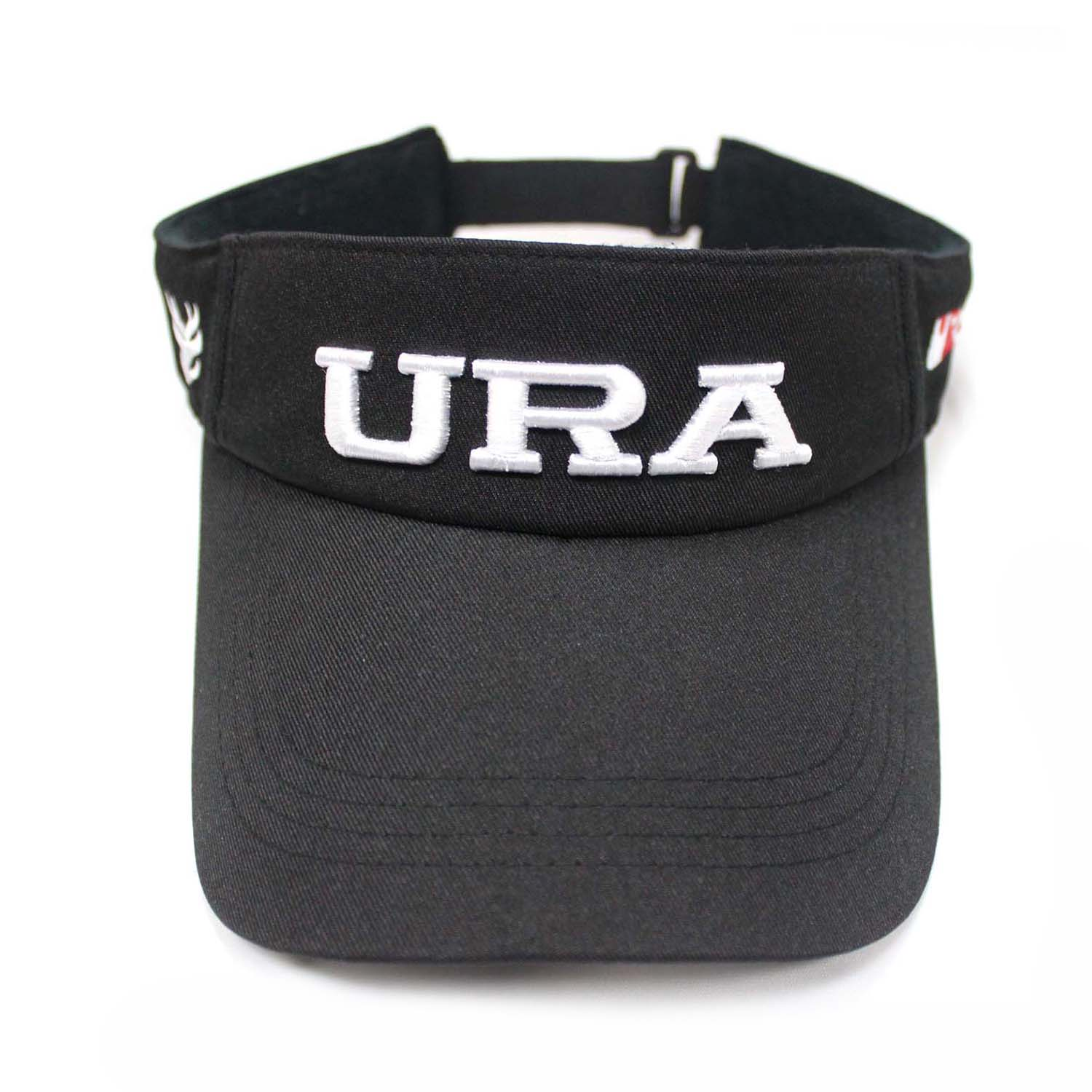 Custom Black Visor Hats With Embroidered Letter